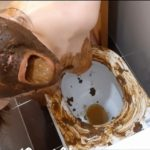 Dirty toilet (part 1) with ScatLina Defecation Video [FullHD / 2020]