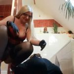 Record-breaking mega shit sausage for the next slave mouth!  Scat Slave Video