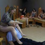 The girls fed him a spoon with MilanaSmelly Femdom Scat Porn [HD]