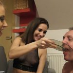 Nikki and Kitty spit piss and cigarettes Scat Slave
