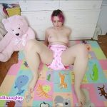 Open diaper pooping with BabyDollNaughty Efro